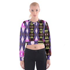 Geometric Abstract Background Art Women s Cropped Sweatshirt