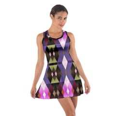 Geometric Abstract Background Art Cotton Racerback Dress