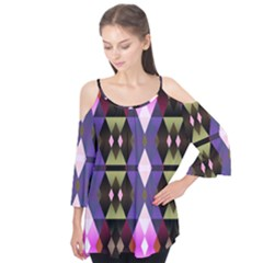 Geometric Abstract Background Art Flutter Tees