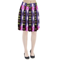 Geometric Abstract Background Art Pleated Skirt