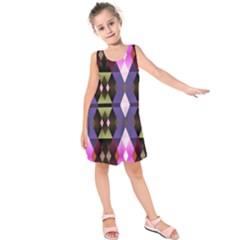 Geometric Abstract Background Art Kids  Sleeveless Dress