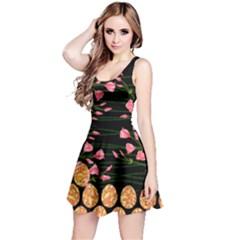 Dark Pink Roses Easter Reversible Sleeveless Dress