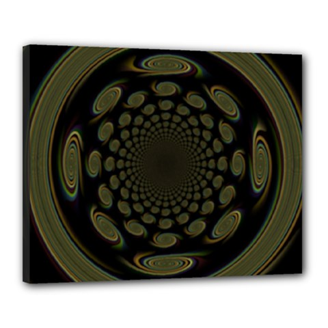 Dark Portal Fractal Esque Background Canvas 20  x 16