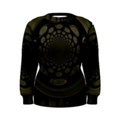 Dark Portal Fractal Esque Background Women s Sweatshirt