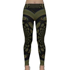 Dark Portal Fractal Esque Background Classic Yoga Leggings