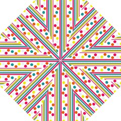 Stripes And Polka Dots Colorful Pattern Wallpaper Background Straight Umbrellas