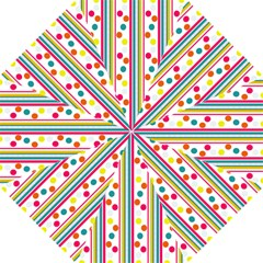 Stripes And Polka Dots Colorful Pattern Wallpaper Background Hook Handle Umbrellas (small)