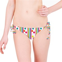 Stripes And Polka Dots Colorful Pattern Wallpaper Background Bikini Bottom