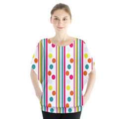 Stripes And Polka Dots Colorful Pattern Wallpaper Background Blouse