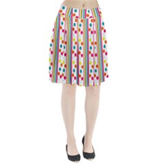 Stripes And Polka Dots Colorful Pattern Wallpaper Background Pleated Skirt