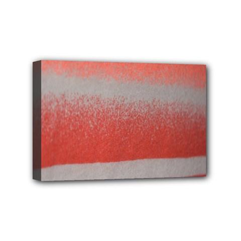 Orange Stripes Colorful Background Textile Cotton Cloth Pattern Stripes Colorful Orange Neo Mini Canvas 6  x 4