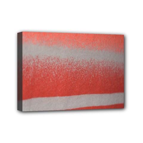 Orange Stripes Colorful Background Textile Cotton Cloth Pattern Stripes Colorful Orange Neo Mini Canvas 7  x 5