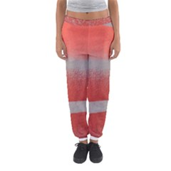 Orange Stripes Colorful Background Textile Cotton Cloth Pattern Stripes Colorful Orange Neo Women s Jogger Sweatpants