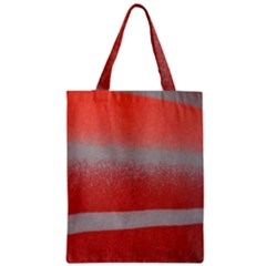 Orange Stripes Colorful Background Textile Cotton Cloth Pattern Stripes Colorful Orange Neo Zipper Classic Tote Bag