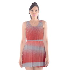 Orange Stripes Colorful Background Textile Cotton Cloth Pattern Stripes Colorful Orange Neo Scoop Neck Skater Dress
