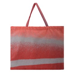 Orange Stripes Colorful Background Textile Cotton Cloth Pattern Stripes Colorful Orange Neo Zipper Large Tote Bag