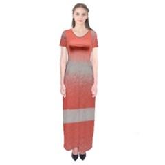 Orange Stripes Colorful Background Textile Cotton Cloth Pattern Stripes Colorful Orange Neo Short Sleeve Maxi Dress