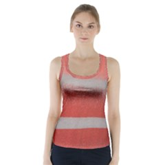 Orange Stripes Colorful Background Textile Cotton Cloth Pattern Stripes Colorful Orange Neo Racer Back Sports Top