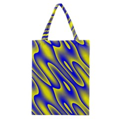 Blue Yellow Wave Abstract Background Classic Tote Bag