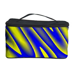 Blue Yellow Wave Abstract Background Cosmetic Storage Case