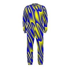 Blue Yellow Wave Abstract Background OnePiece Jumpsuit (Kids)