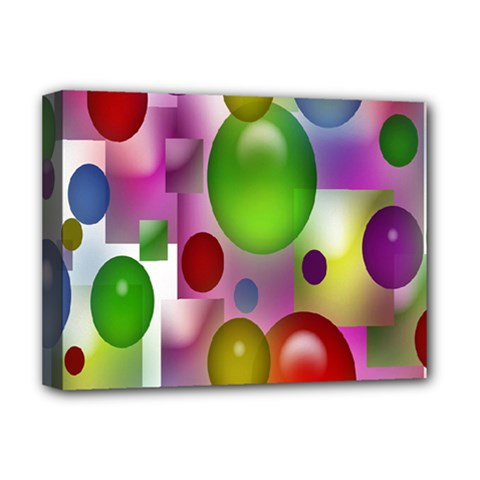 Colored Bubbles Squares Background Deluxe Canvas 16  X 12