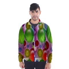 Colored Bubbles Squares Background Wind Breaker (men)
