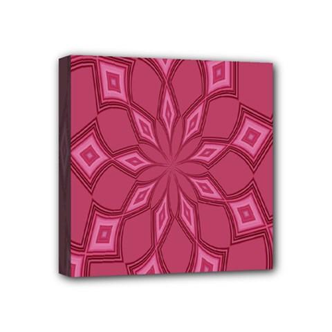 Fusia Abstract Background Element Diamonds Mini Canvas 4  x 4