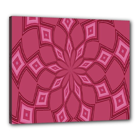 Fusia Abstract Background Element Diamonds Canvas 24  x 20