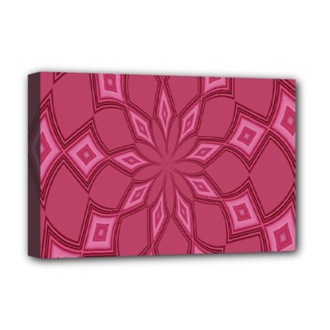 Fusia Abstract Background Element Diamonds Deluxe Canvas 18  x 12
