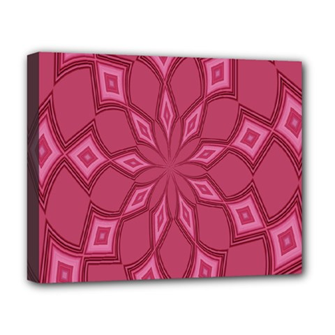 Fusia Abstract Background Element Diamonds Deluxe Canvas 20  x 16