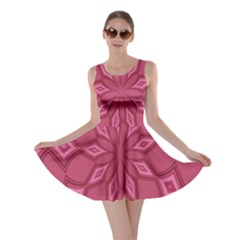Fusia Abstract Background Element Diamonds Skater Dress