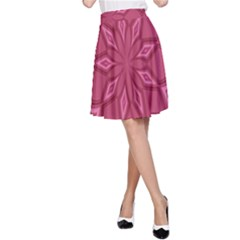 Fusia Abstract Background Element Diamonds A Line Skirt