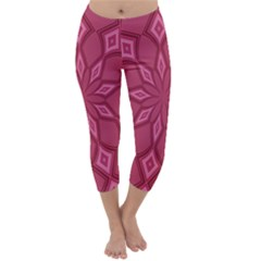 Fusia Abstract Background Element Diamonds Capri Winter Leggings