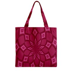 Fusia Abstract Background Element Diamonds Zipper Grocery Tote Bag