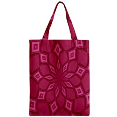 Fusia Abstract Background Element Diamonds Zipper Classic Tote Bag