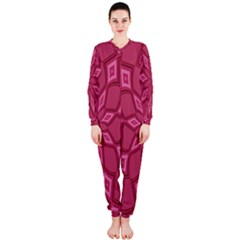 Fusia Abstract Background Element Diamonds Onepiece Jumpsuit (ladies)