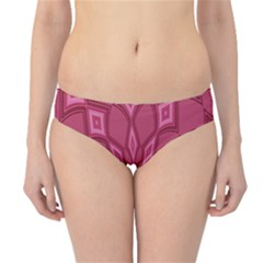 Fusia Abstract Background Element Diamonds Hipster Bikini Bottoms