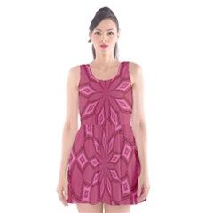 Fusia Abstract Background Element Diamonds Scoop Neck Skater Dress