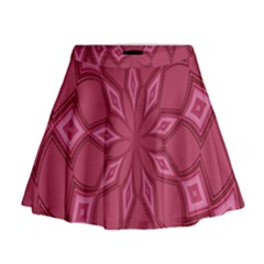 Fusia Abstract Background Element Diamonds Mini Flare Skirt