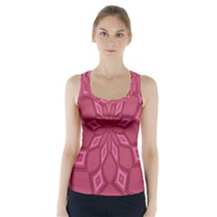 Fusia Abstract Background Element Diamonds Racer Back Sports Top