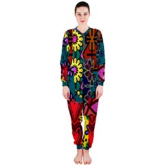 Digitally Created Abstract Patchwork Collage Pattern OnePiece Jumpsuit (Ladies)