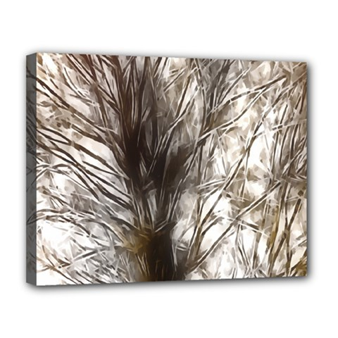 Tree Art Artistic Tree Abstract Background Canvas 14  x 11