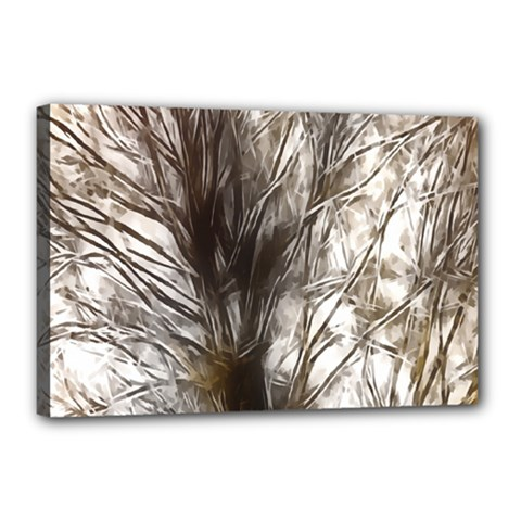 Tree Art Artistic Tree Abstract Background Canvas 18  x 12