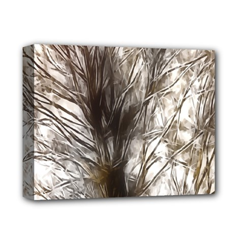 Tree Art Artistic Tree Abstract Background Deluxe Canvas 14  x 11
