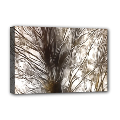 Tree Art Artistic Tree Abstract Background Deluxe Canvas 18  X 12
