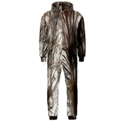 Tree Art Artistic Tree Abstract Background Hooded Jumpsuit (Men)