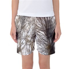 Tree Art Artistic Tree Abstract Background Women s Basketball Shorts