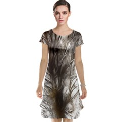 Tree Art Artistic Tree Abstract Background Cap Sleeve Nightdress