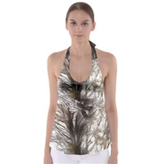 Tree Art Artistic Tree Abstract Background Babydoll Tankini Top